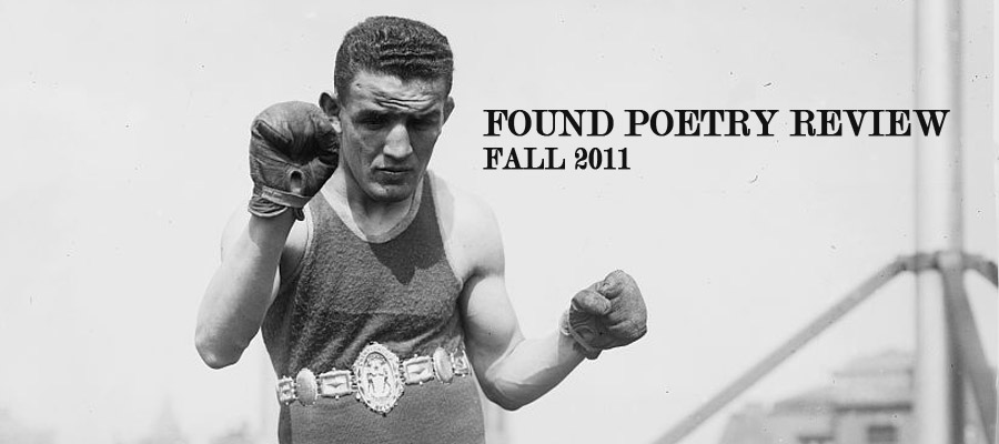 The Found Poetry Review, Fall 2011