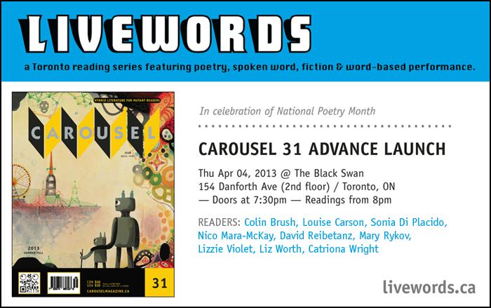 Livewords, Carousel Launch April 2013