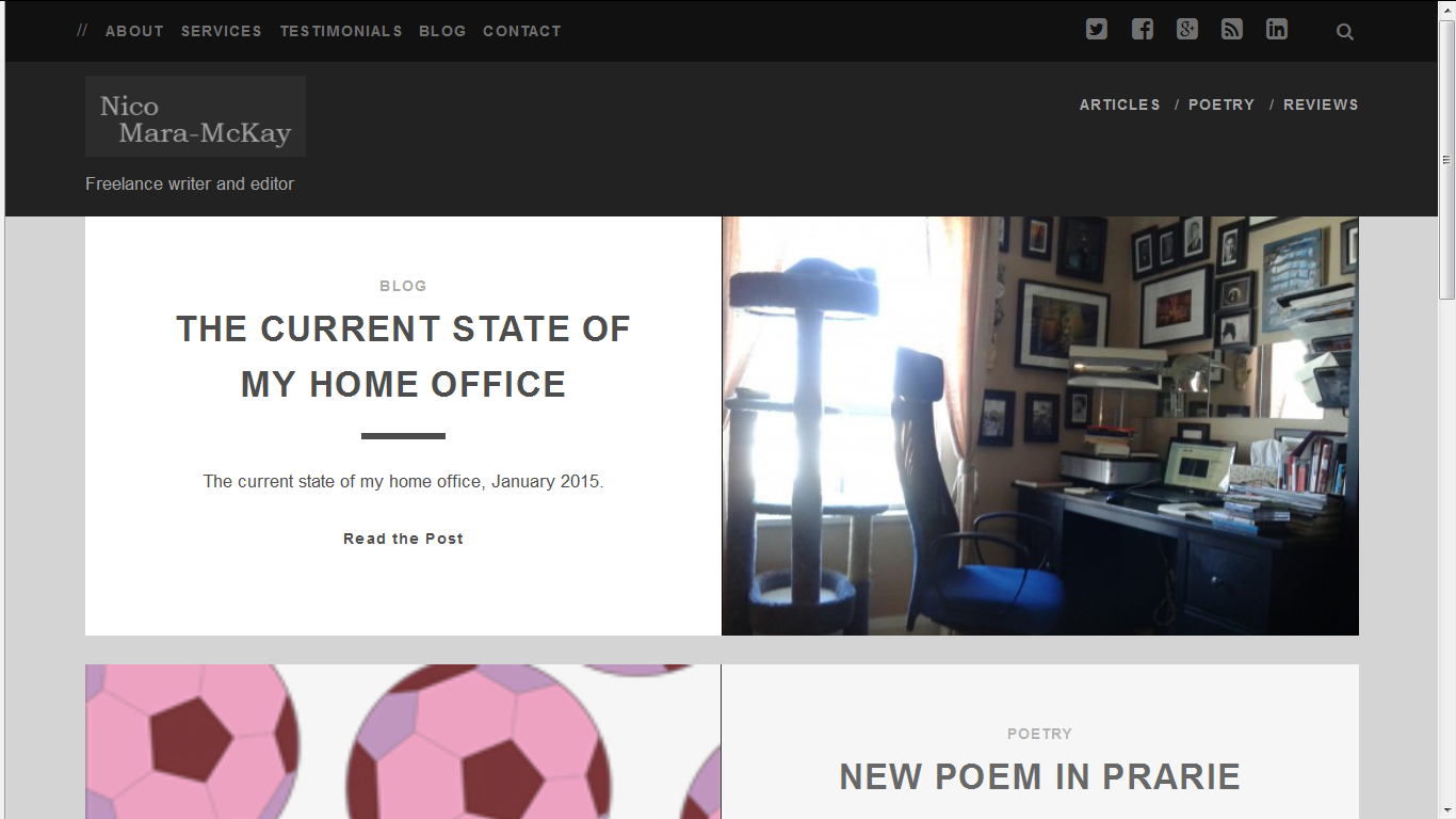 New site design, February 2015