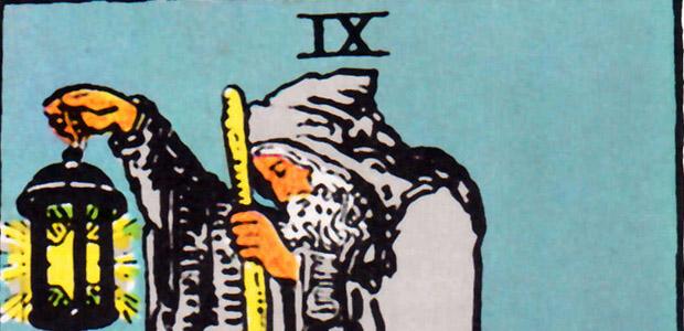 Detail of The Hermit, Rider-Waite-Smith Tarot