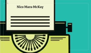 Nico Mara-McKay, Typewriter business card