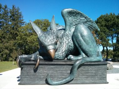 University of Guelph gryphon statue, photo by James M